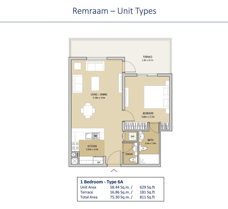 1 Bedroom Type 6A