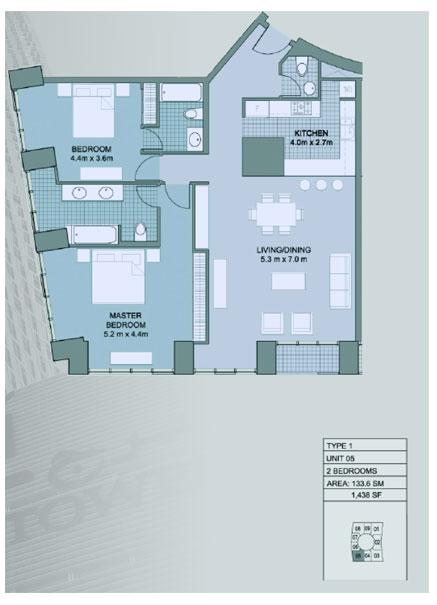 Cayan Tower By Cayan Group At Dubai Marina Floor Plan