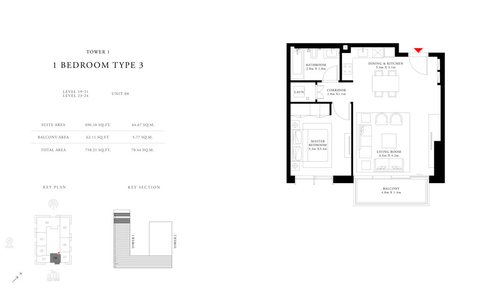 1-Bedroom-Type-3-Tower-1,Size-758.21-sq.ft