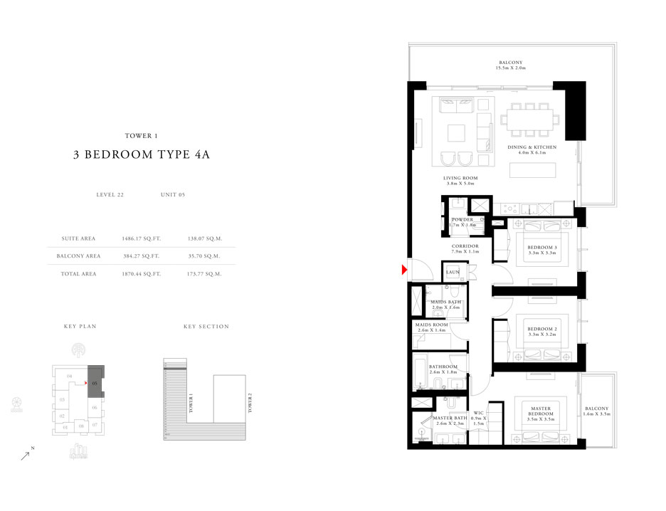 3-Bedroom-Type-4A-Tower-1,Size-1870.44-sq.ft