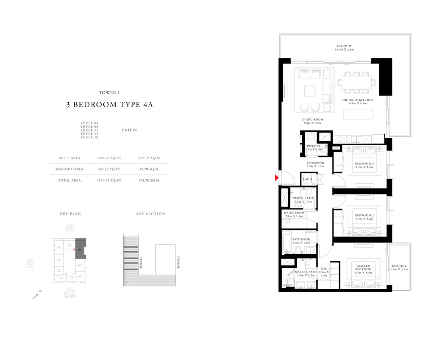 3-Bedroom-Type-4A-Tower-1,Size-1870.55-sq.ft