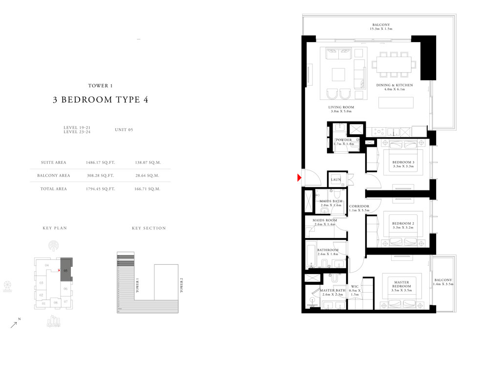 3-Bedroom-Type-4-Tower-1,Size-1794.45-sq.ft