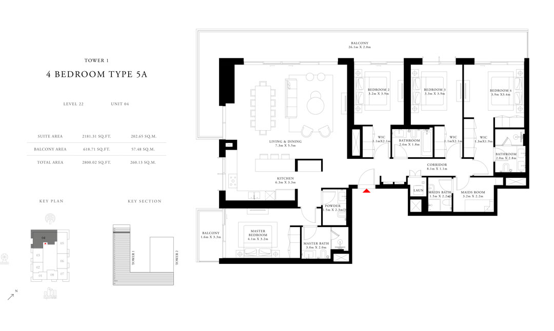 4-Bedroom-Type-5A-Tower-1,Size-2800.02-sq.ft