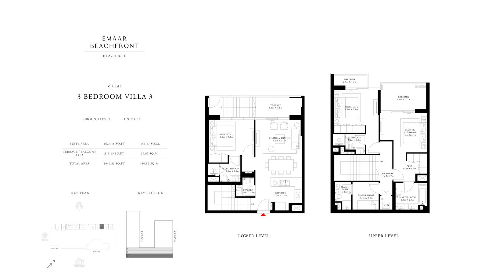 3 Bedroom Villas 3, Size 1946 sq ft