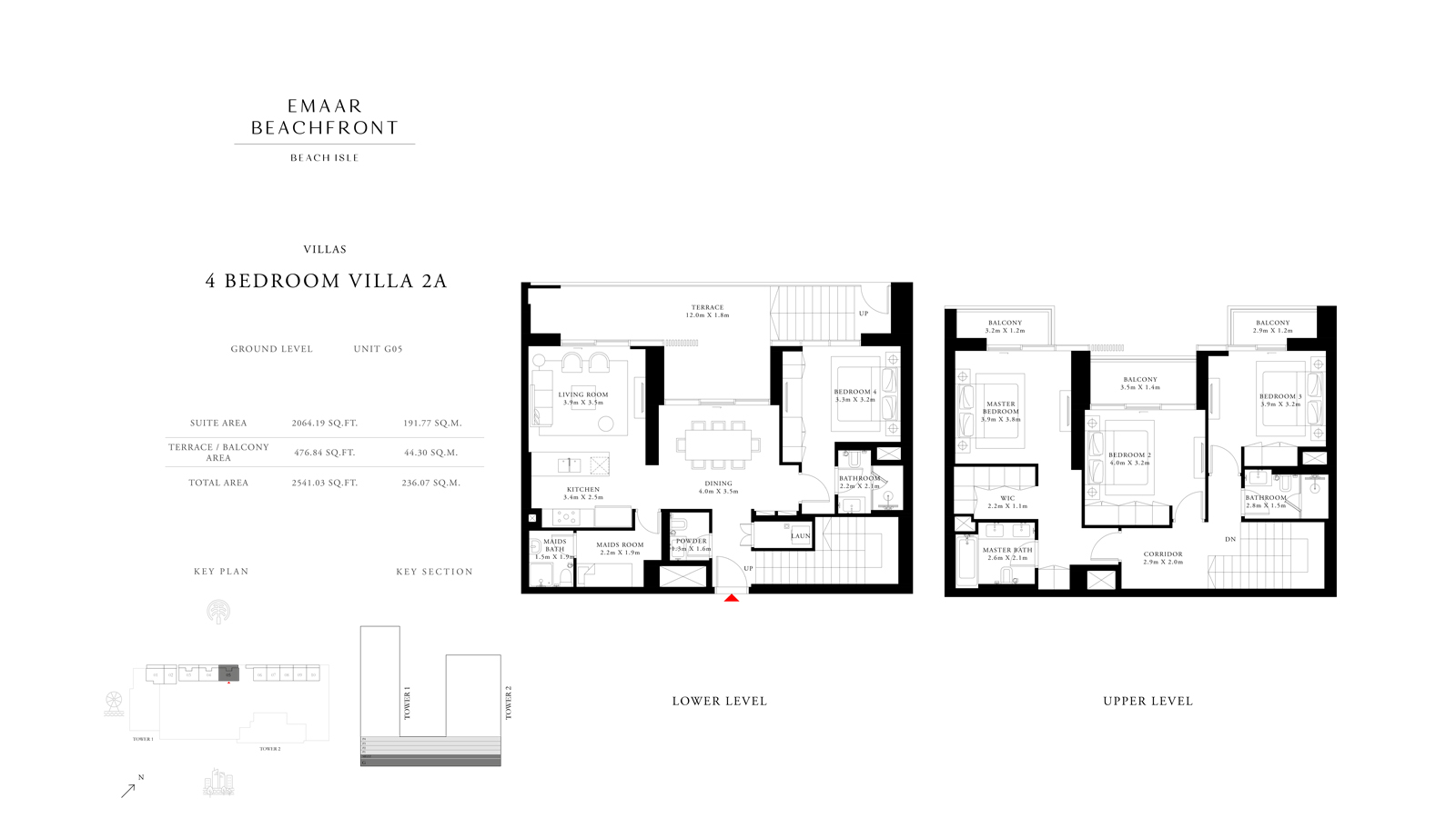 4 Bedroom Villas 2A, Size 2541 sq ft