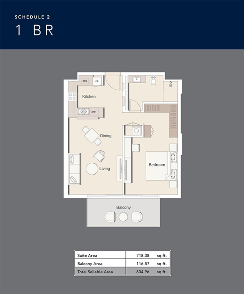 1 Bed-834.96