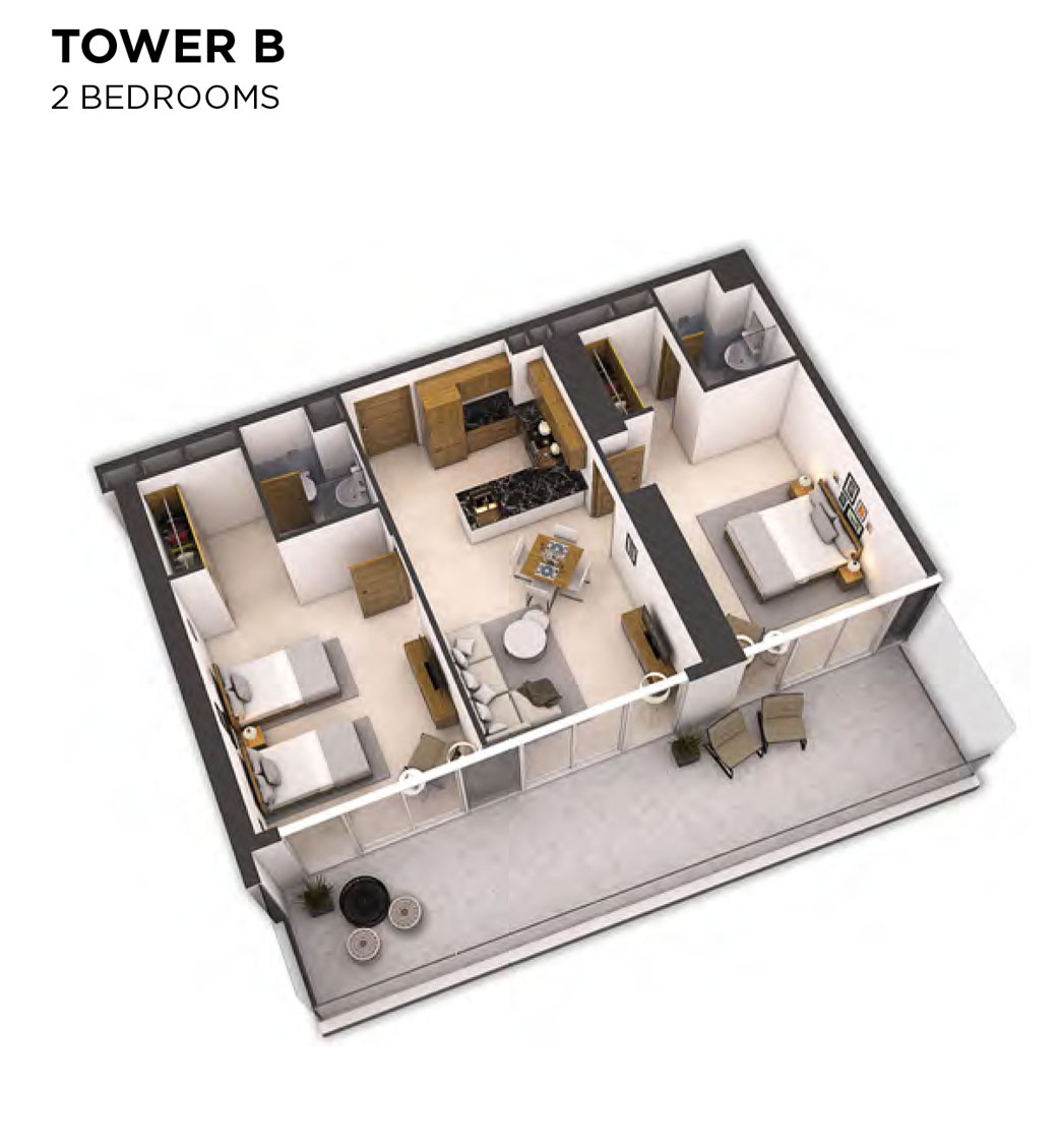 Tower B -2 Bedroom