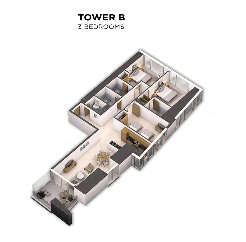 Tower B -3 Bedroom