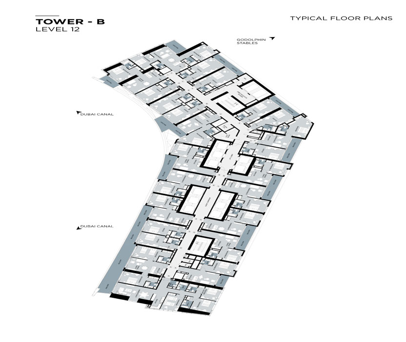 Typical Floor plan,Tower-B,Level-12