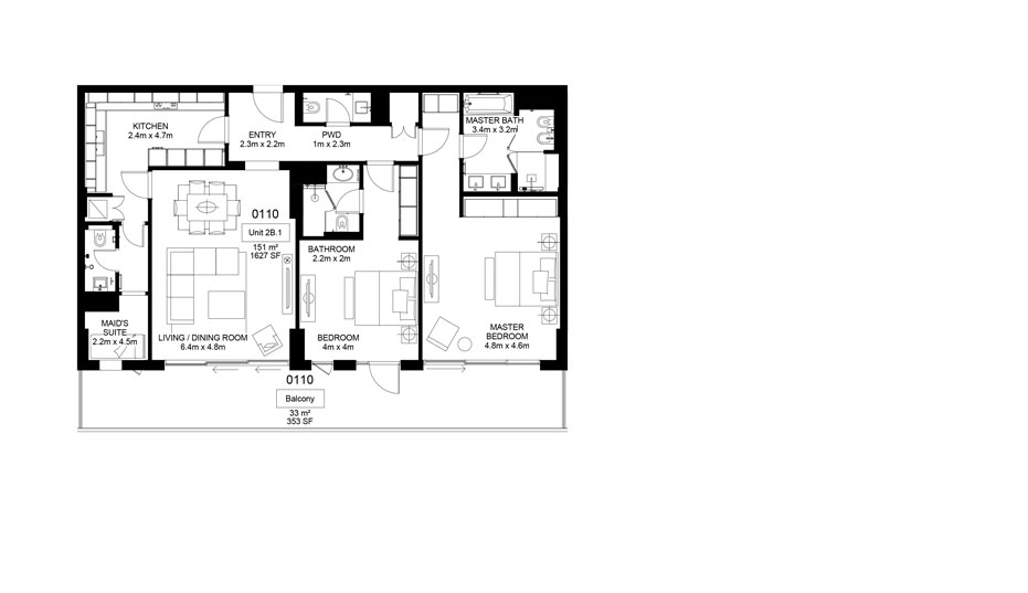 Mamsha-A1-01-10 , 2 Bed 184.00-sq.mt