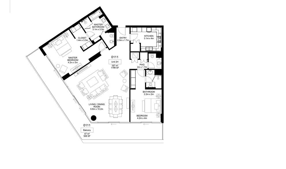 Mamsha-A1-01-11 , 2 Bed 214.00-sq.mt