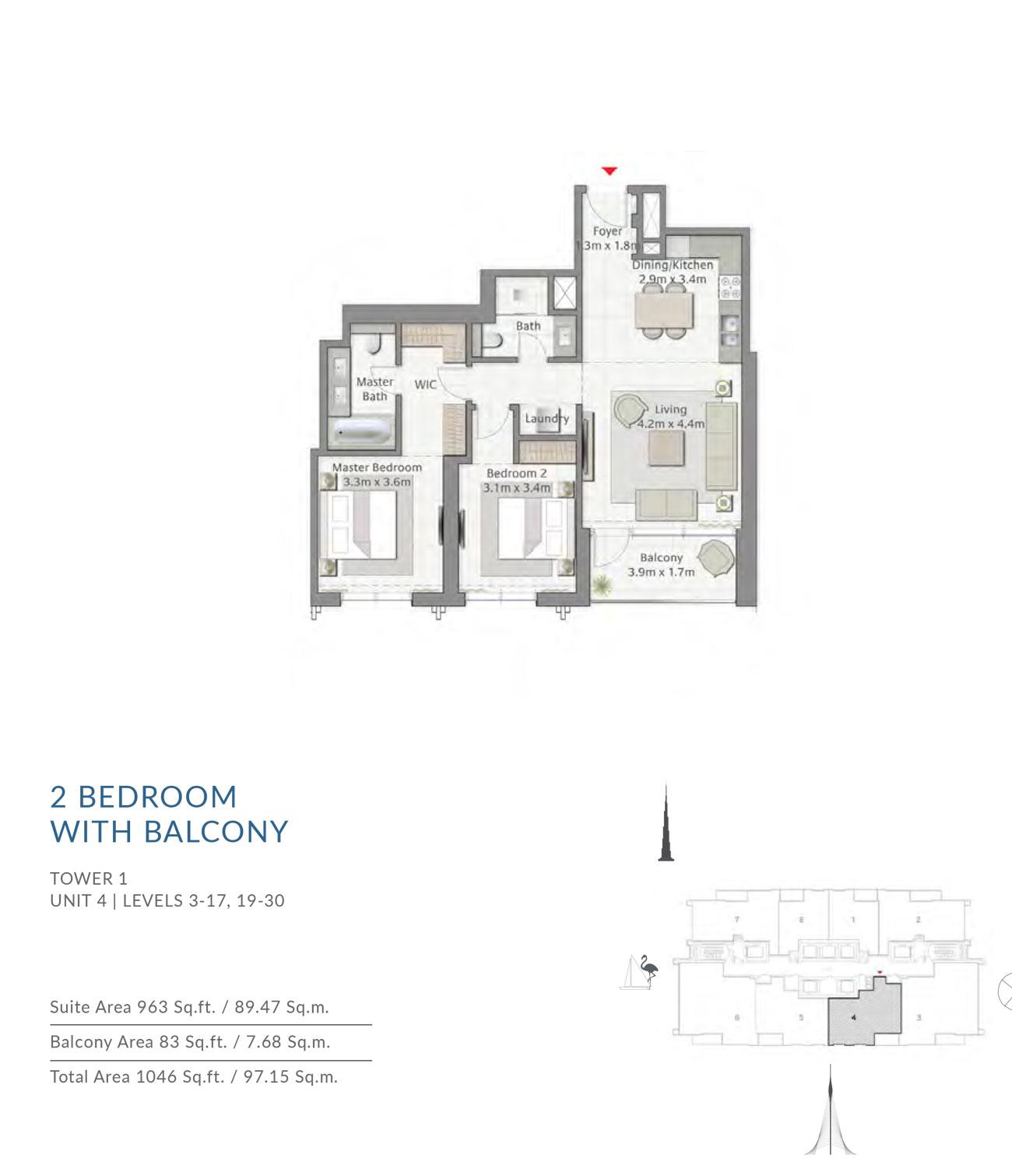 Floor-Plan-2BR T1 U4