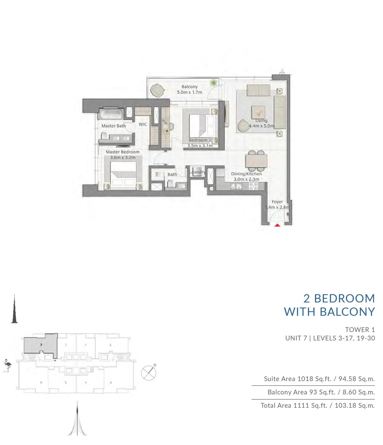 Floor-Plan-2BR T1 U7