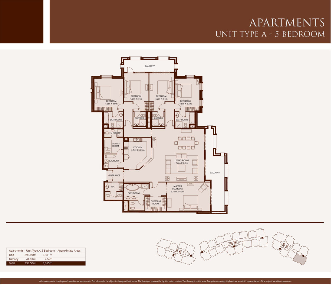 5 Bedroom,Unit-Type-A,Size-3655-Sq.ft