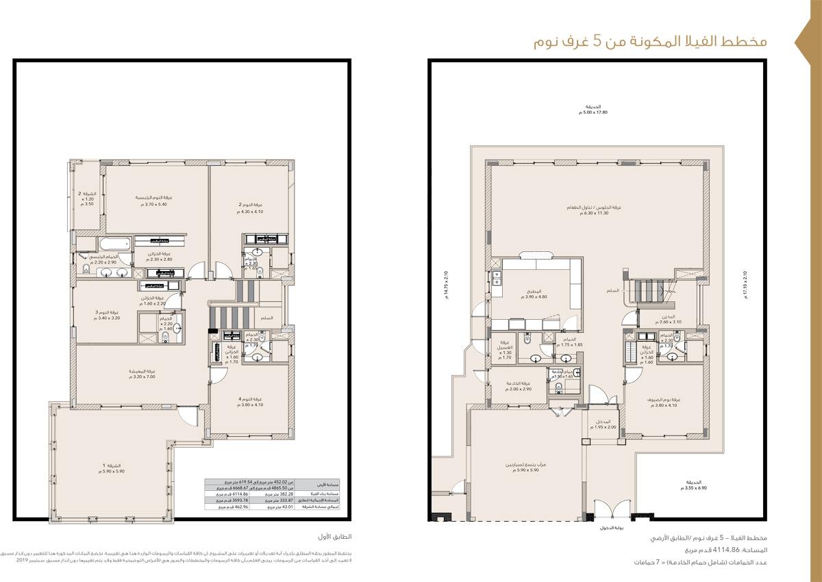 5 Bedrooms Villas