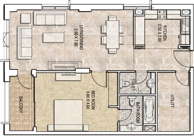 Typical-1bhk-type-b