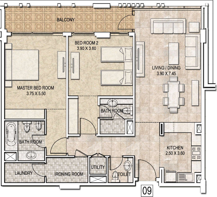 Typical-2bhk-type-b