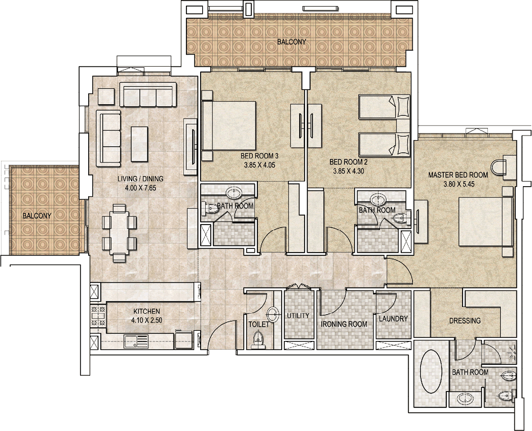 Typical-3bhk-type-D