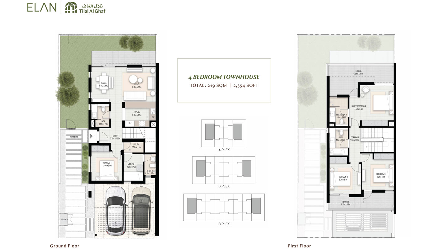 4 Bedroom Townhouse, Size 2354.00 Sq Ft