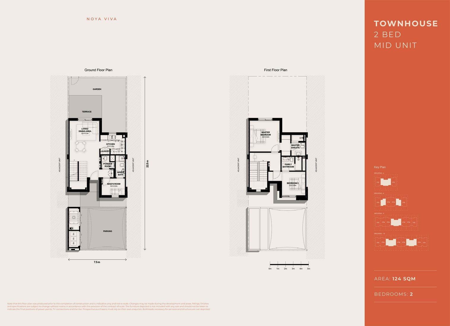 2 Bed TH, Mid Unit