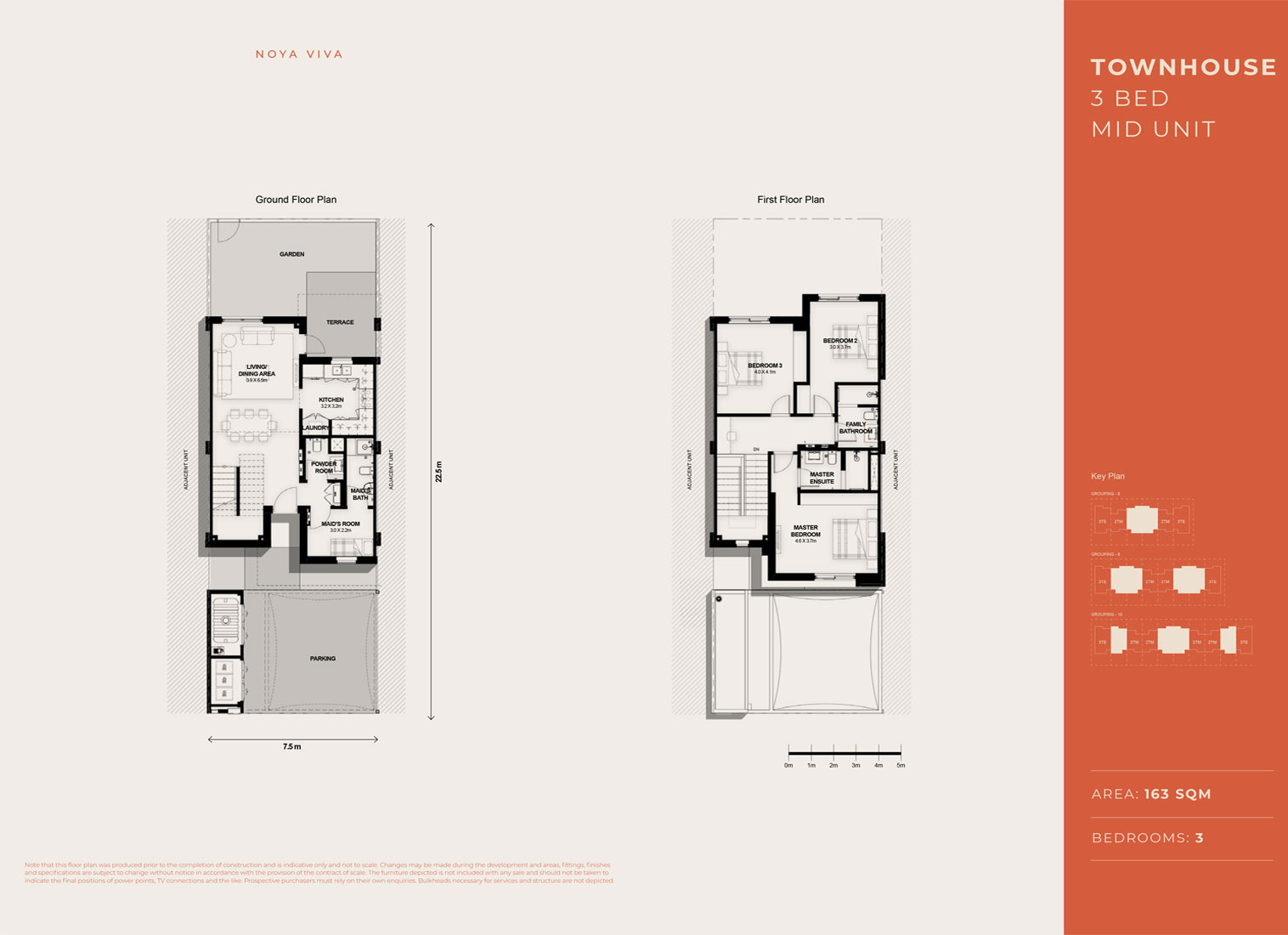3 Bed TH, Mid Unit