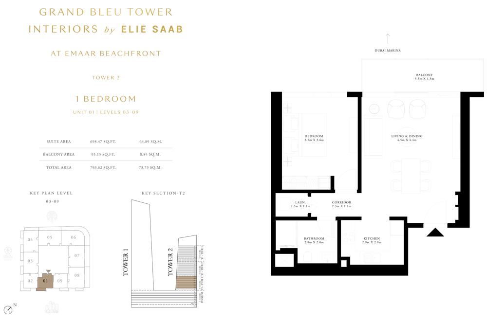 1 Bed, Unit-01-Level-03-09