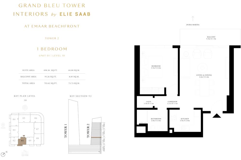 1 Bed, Unit-01-Level-10