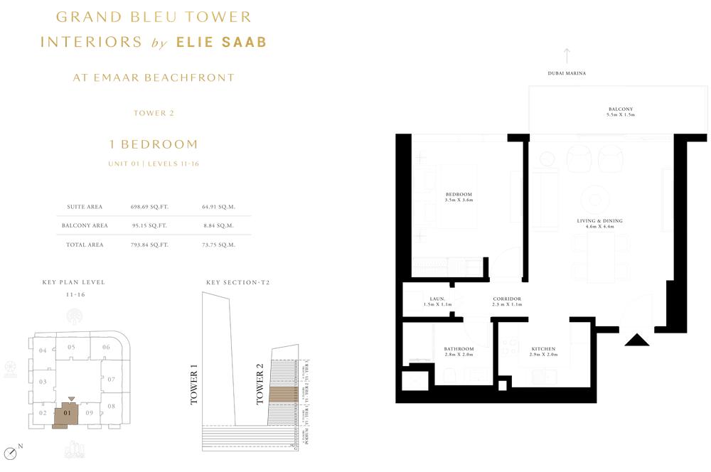 1 Bed, Unit-01-Level-11-16