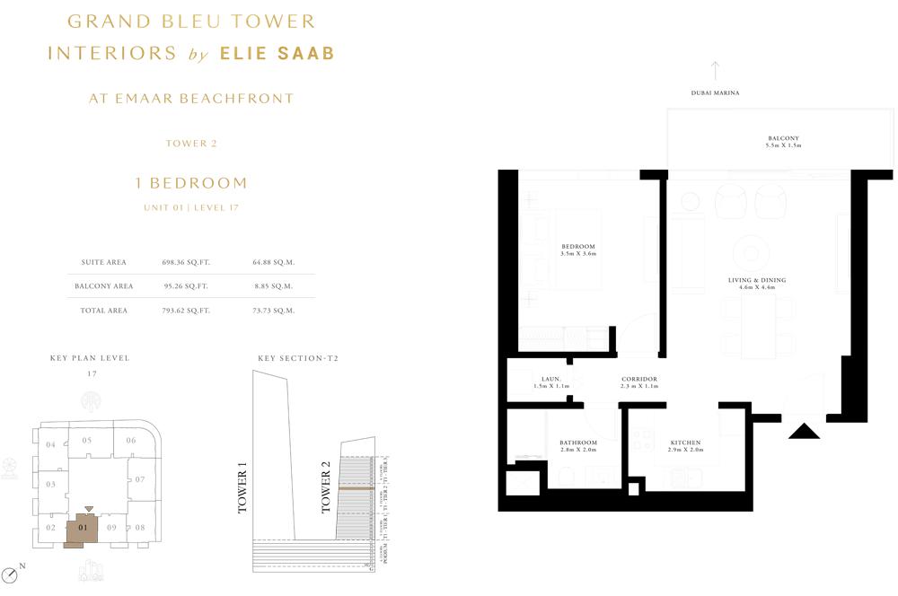 1 Bed, Unit-01-Level-17