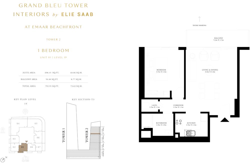 1 Bed, Unit-01-Level-19