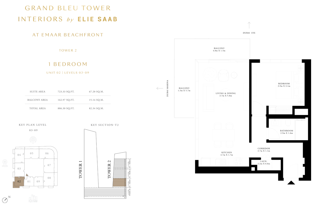1 Bed, Unit-02-Level-03-09