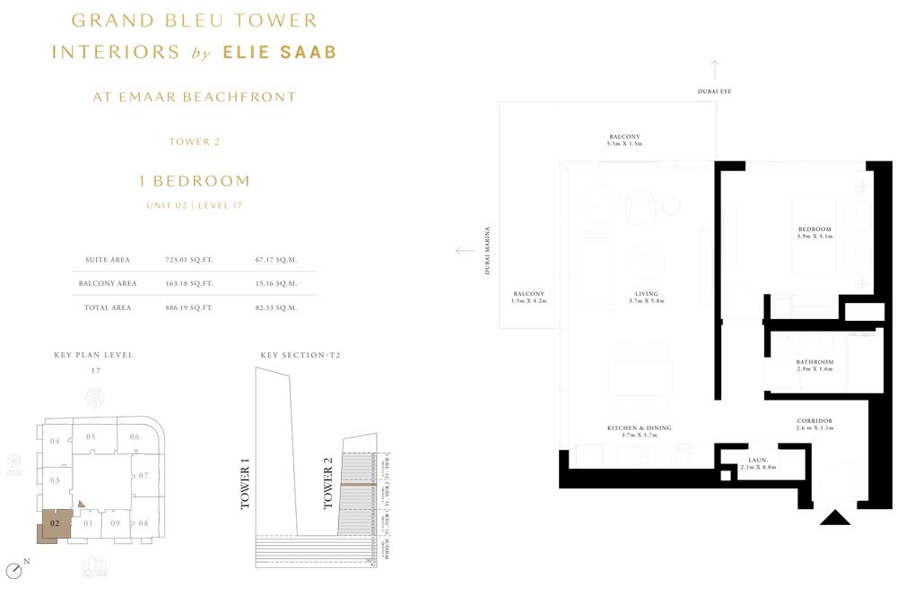 1 Bed, Unit-02-Level-17
