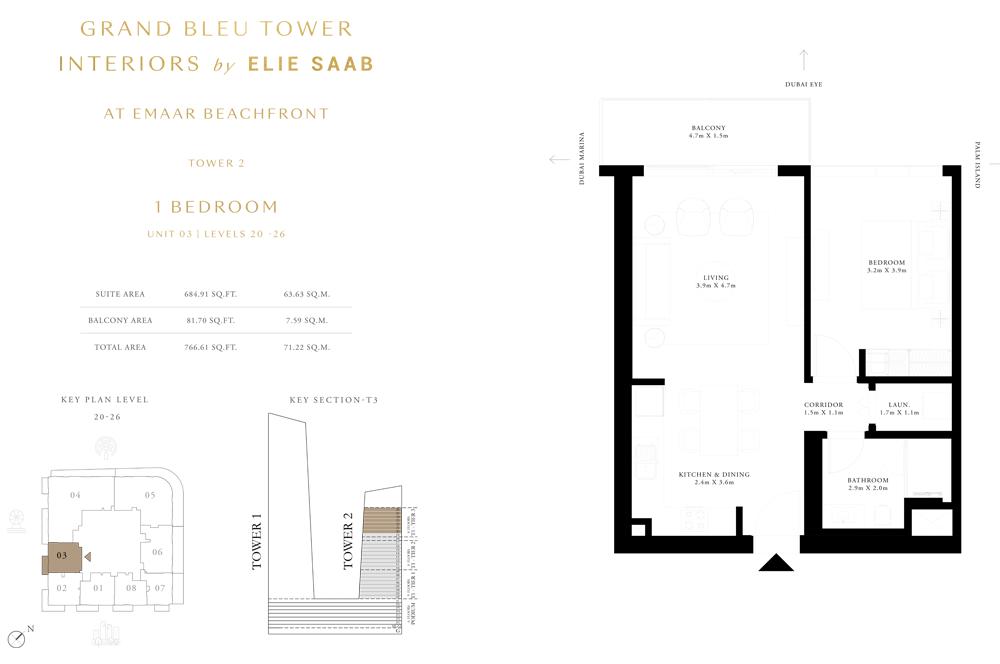 1 Bed, Unit-03-Level-20-26