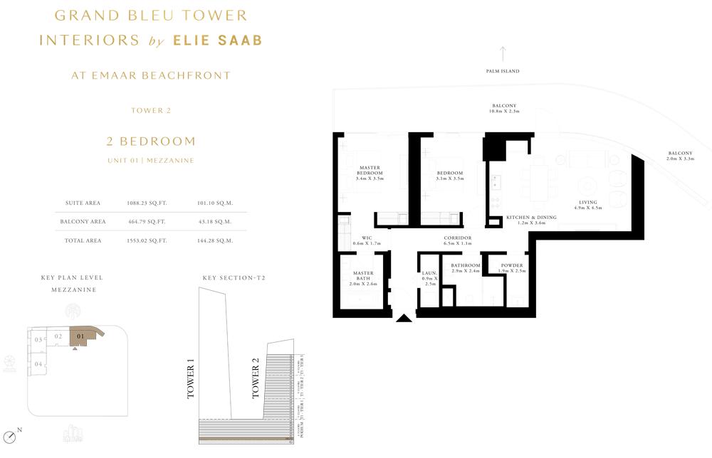2 Bed, Unit-01 Mezzanine