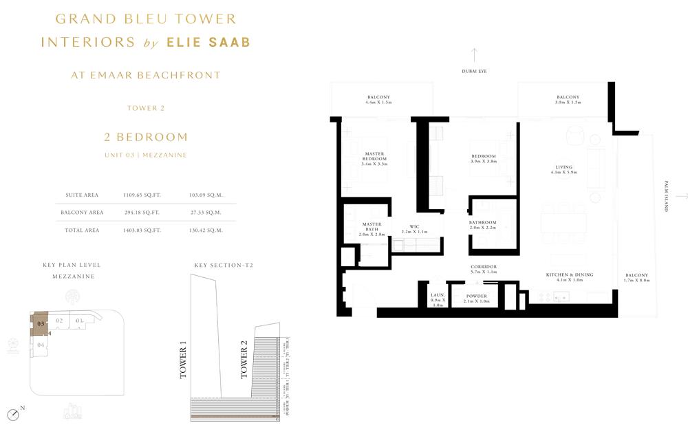 2 Bed, Unit-03 Mezzanine