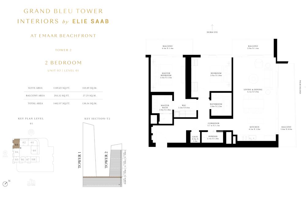 2 Bed, Unit-03-Level-01