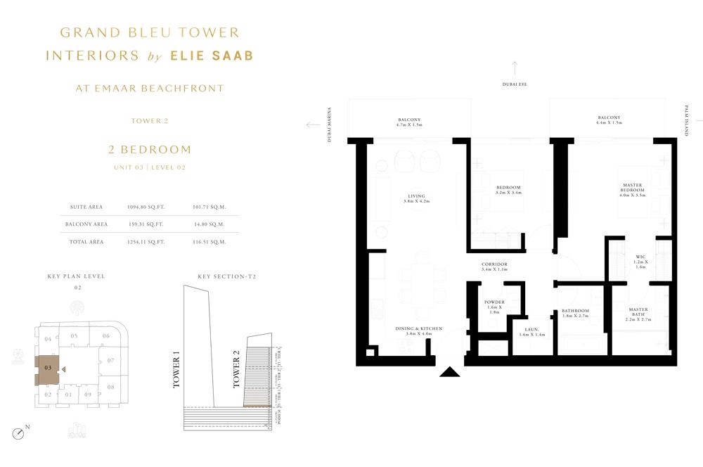 2 Bed, Unit-03-Level-2