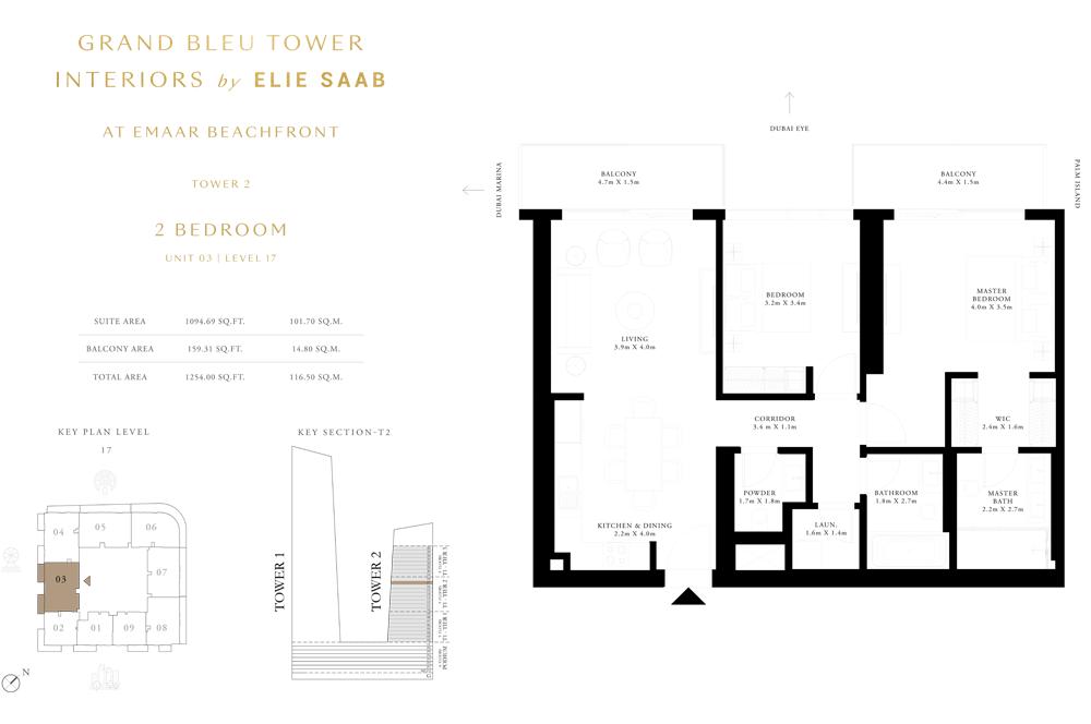 2 Bed, Unit-03-Level-17
