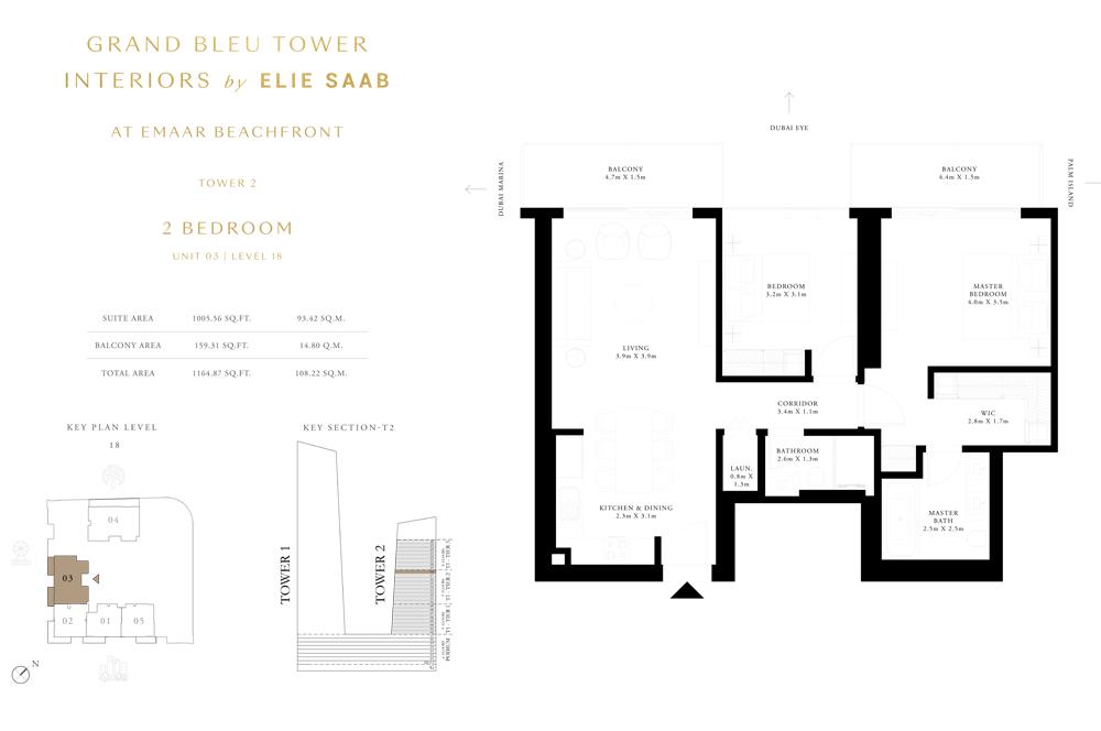 2 Bed, Unit-03-Level-18