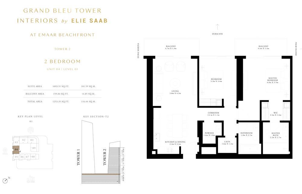 2 Bed, Unit-04-Level-01