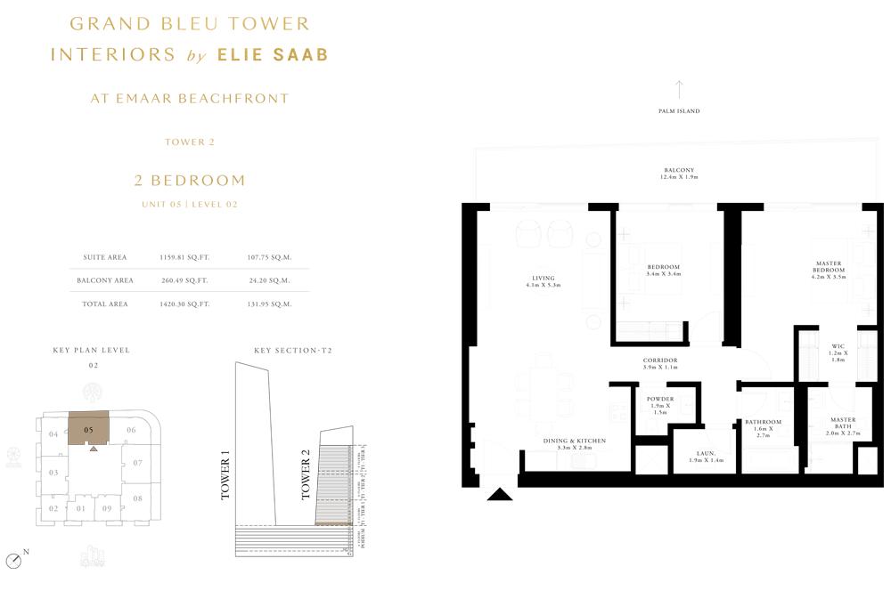 2 Bed, Unit-05-Level-2