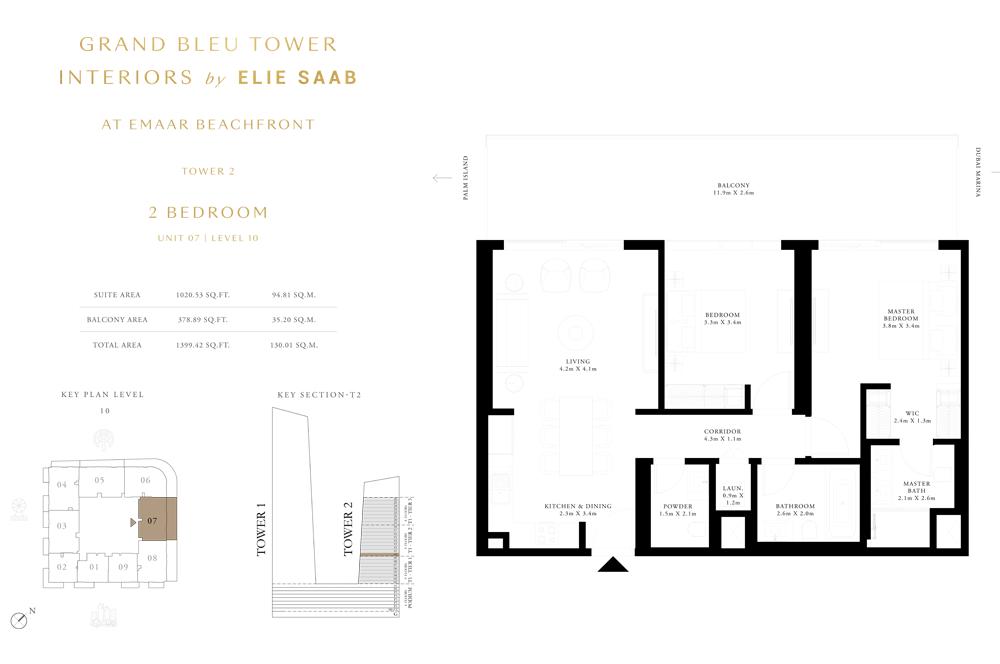 2 Bed, Unit-07-Level-10