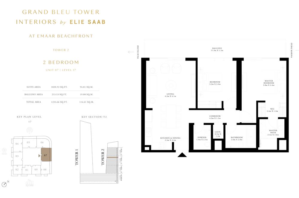 2 Bed, Unit-07-Level-17