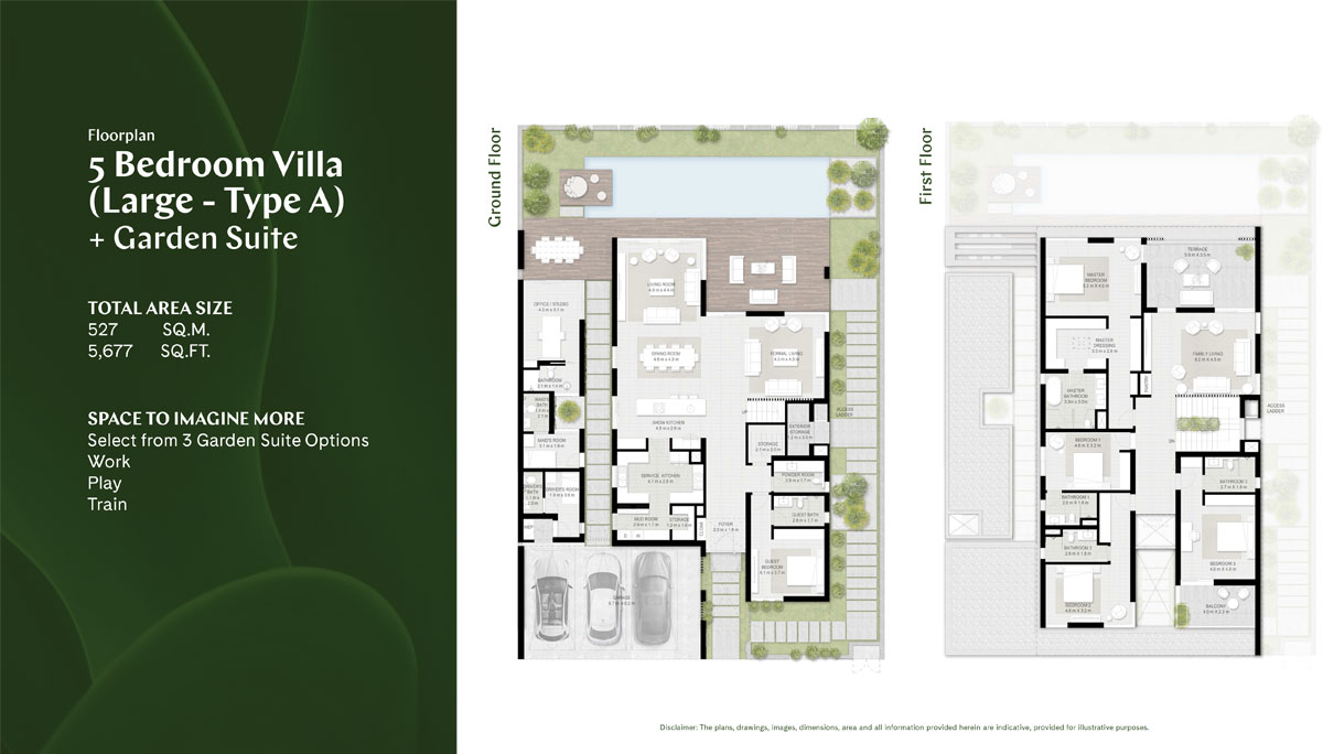 5 BR (Large), Type A, Garden Suite