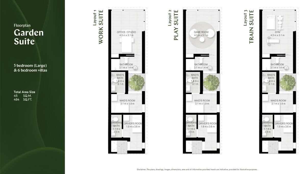 5 BR (Large) & 6 BR, Garden Suite