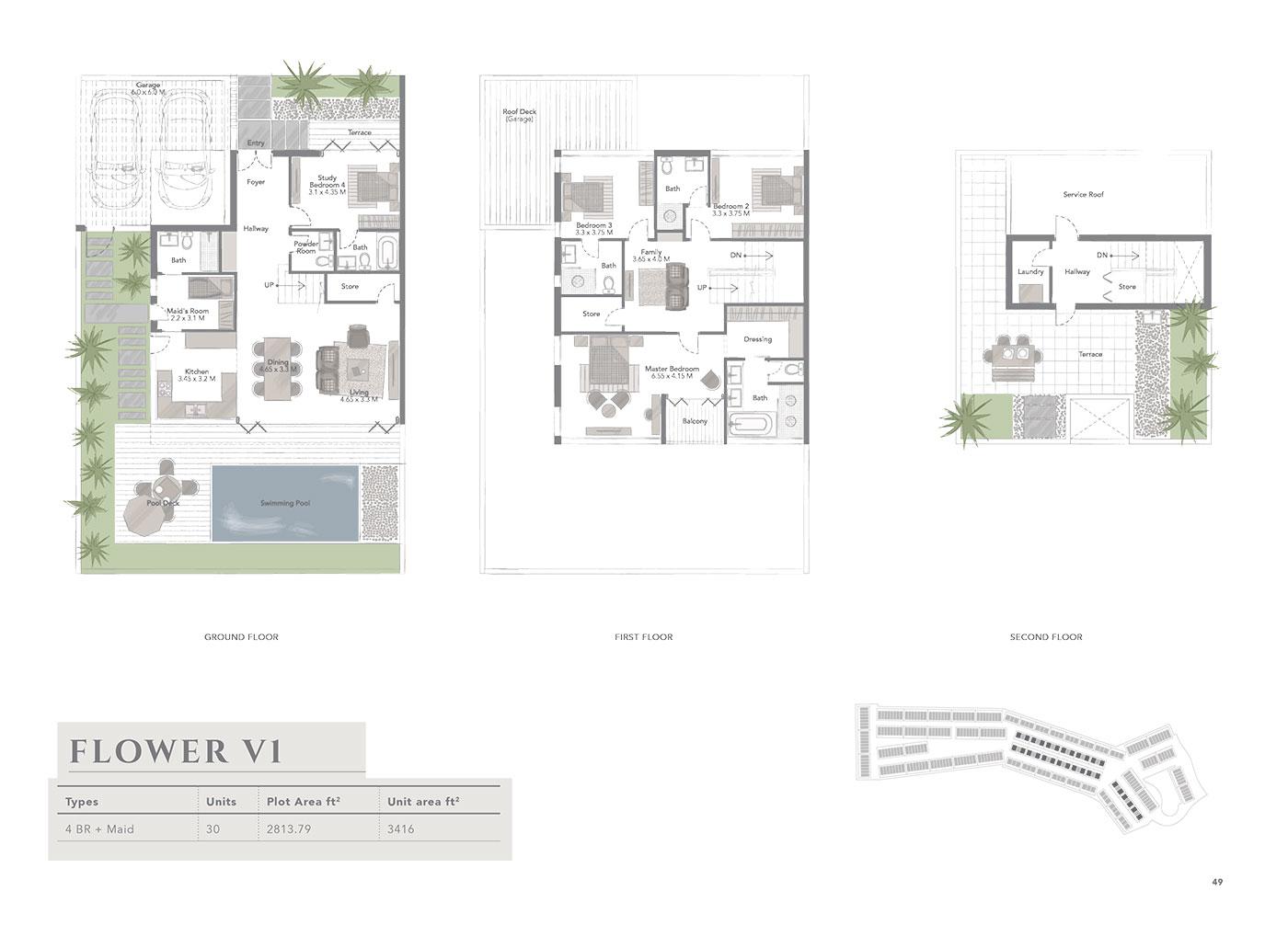 Jumeirah luxury living residences at jumeirah golf for Floor plans jumeirah islands