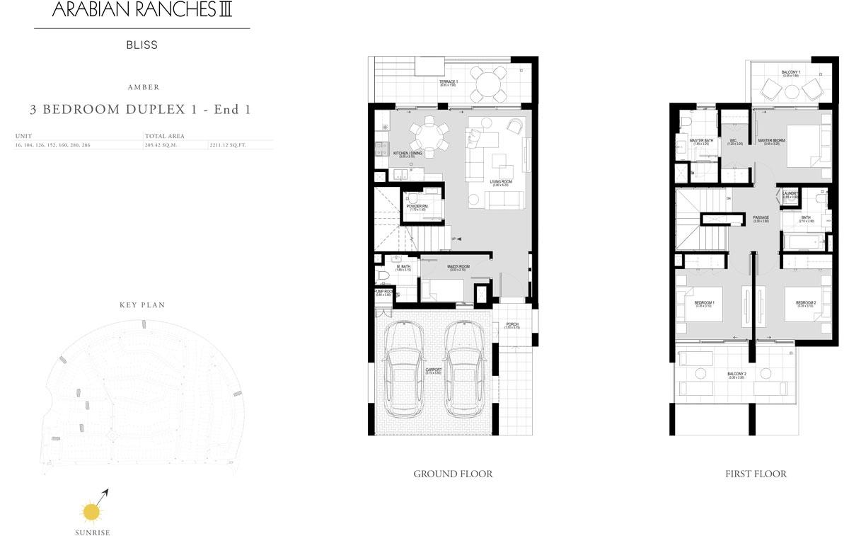 3 Bedroom Duplex 1 - End 1
