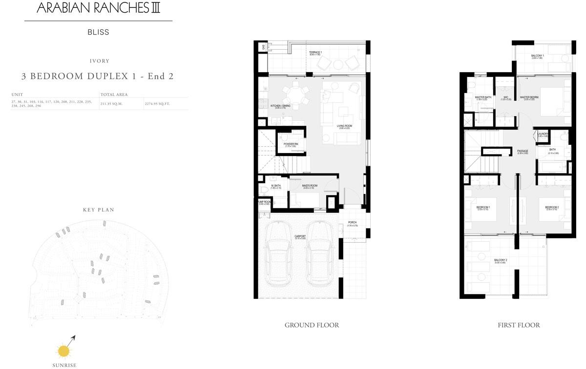 3 Bedroom Duplex 1 - End 2