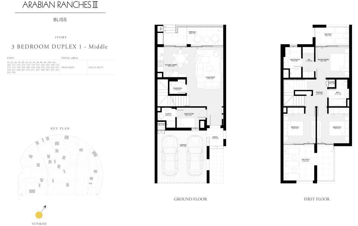 3 Bedroom Duplex 1 - Middle