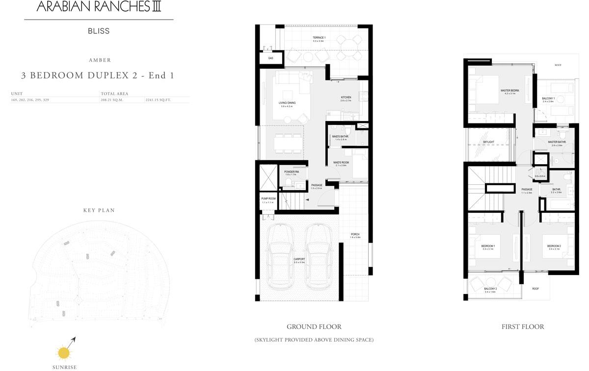 3 Bedroom Duplex 2 - End 1